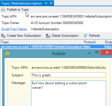 Interacting with Clouds From Visual Studio: Part 2 – Amazon Web